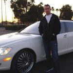 Evan Longoria with his white car