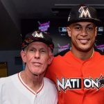 Giancarlo Stanton with his father Mike Stanton
