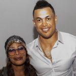 Giancarlo Stanton with his mother Jacinta Garay