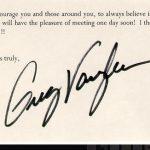 Greg Vaughan signature