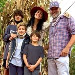 Greg Vaughan with his children and partner Angie Harmon