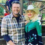 Gwen Stefani with her partner Blake Shelton