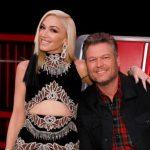Gwen Stefani with partner Blake Shelton