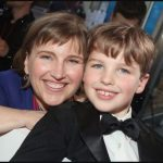 Iain Armitage with his mother Lee Armitage