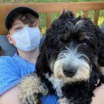 Iain Armitage with his pet dog