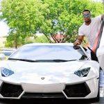 Jason Heyward with his Lamborghini car