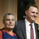 Jay Bruce with his mother Martha Bruce