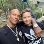 Jeremy Meeks with his son Jeremy Meeks Jr