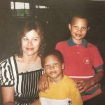 Jeremy Meeks with mother and older brother in childhood