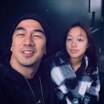 Joe Taslim with daughter Mika Taslim