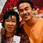 Joe Taslim with his mother Maria Goretty