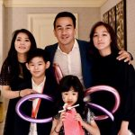 Joe Taslim with his wife and children