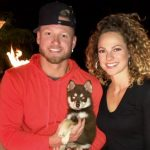 Josh Donaldson with his wife and pet dog