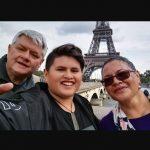 Julian Dennison with his parents