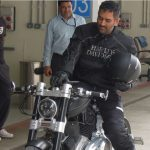 MS Dhoni with his Helcat Bike