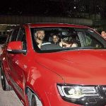 MS Dhoni with his Jeep car