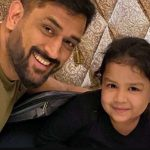 MS Dhoni with his daughter Ziva Dhoni