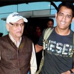 MS Dhoni with his father Pan Singh Dhoni