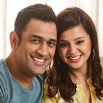 MS Dhoni with his wief Sakshi Dhoni