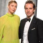Maria Sharapova with boyfriend and fiance Alexander Gilkes