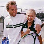 Maria Sharapova with her father Yuri Sharapova