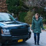 Monica Raymund with her black car