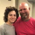 Montana Jordan with his father Tony Jordan