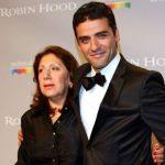 Oscar Isaac with his mother Maria Eugenia Estrada Nicolle