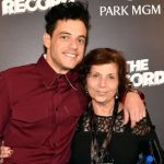Rami Malek with his mother Nelly Abdel-Malek