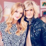 Rosie Huntington-Whiteley with her mother Fiona Huntington-Whiteley