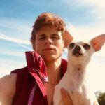 Ruairi O'Connor with his pet dog
