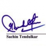 Sachin Tendulkar signature