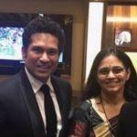 Sachin Tendulkar with his sister Savita Tendulkar