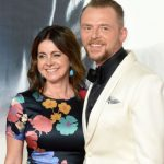 Simon Pegg with his wife Maureen Pegg