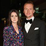 Simon Pegg with wife Maureen Pegg