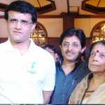 Sourav Ganguly with his mother Nirupa Ganguly and brother