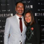 Taika Waititi with his wife Chelsea Winstanley