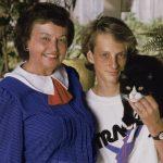 Tony Hawk with his mother Nancy Elizabeth Hawk