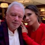 Victoria Beckham with her father Anthony William Adams
