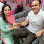 Virender Sehwag with his sister Anju Sehwag