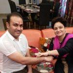 Virender Sehwag with his sister Manju Sehwag