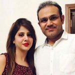 Virender Sehwag with his wife Aarti Ahlawat