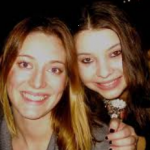Zoe Perry with her sister Leah Perry