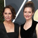 Zoe Perry with her mother Laurie Metcalf