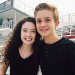 Aiden Flowers with his girlfriend Eliza Buie