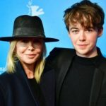 Alex Lawther with his mother Michael Lawther