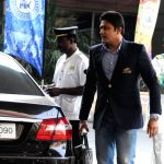 Anil Kumble with his car