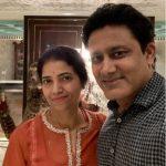 Anil Kumble with his wife Chethana Ramatheertha