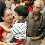 Anil Kumble's father and mother