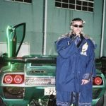 Bad Bunny with his ford car